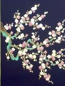 寒梅図名古屋帯 ¥150,000