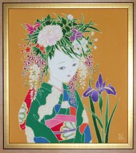 花娘 春に香る 色紙大¥50,000