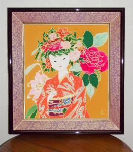 花娘 夏の色 色紙大 ¥50,000