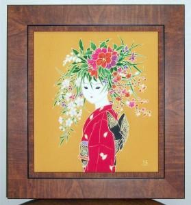 花娘 夏化粧 色紙大¥50,000