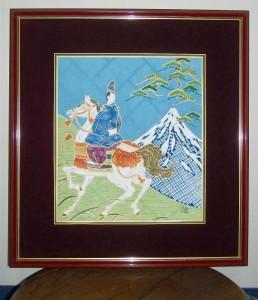 伊勢物語 東下り~富士の峰 色紙大¥50,000